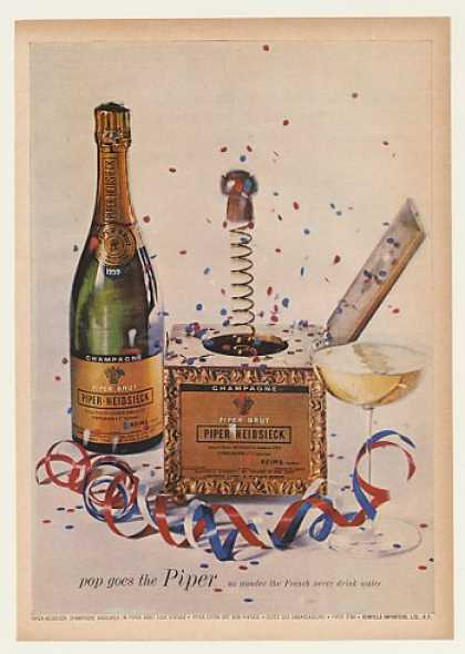 '63 Piper-Heidsieck Champagne Bottle Pop Cork in Box (1963)