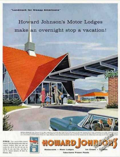 Howard Johnson's Motor Lodges Art Travel (1957)