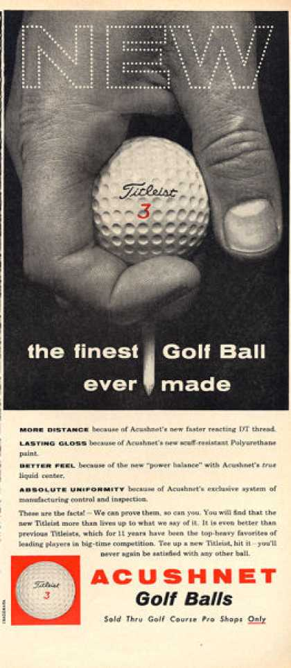 Acushnet Titleist Golf Balls (1960)