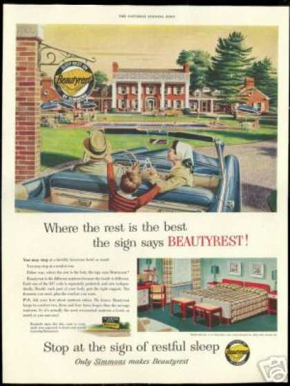 Simmons Beautyrest Mattress Hotel Motel (1954)