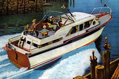 Conqueror 41-foot cabin cruiser Chris-Craft (1961)