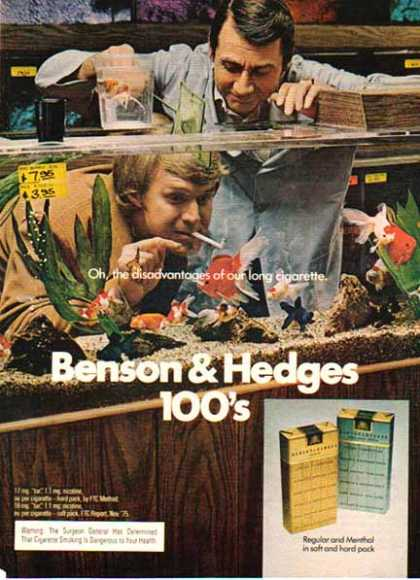 Benson & Hedges Cigarettes – Disadvantages of … – Fish (1975)