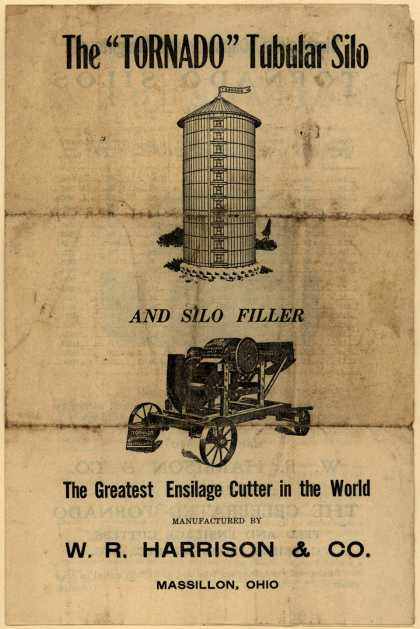 "W. R. Harrison & Co.'s ""Tornado"" Tubular Silo – The ""Tornado"" Tubular Silo (1910)"