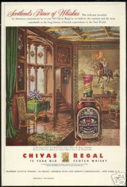 Robert The Bruce Tapestry Chivas Regal Scotch (1956)
