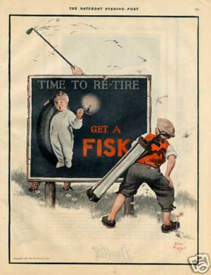 Fisk Tire Color Ad Alan Foster Art (1925)