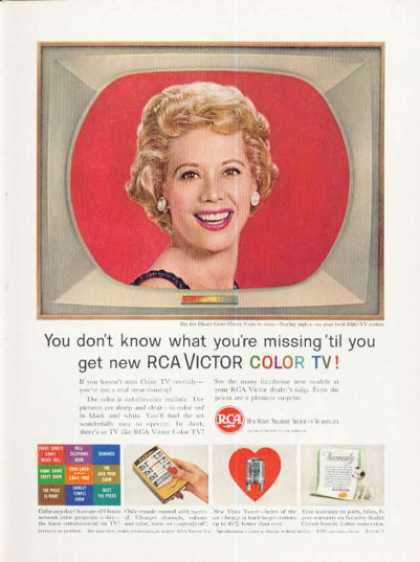 Rca Color Tv Television Ad Remote Dinah Shore (1961)