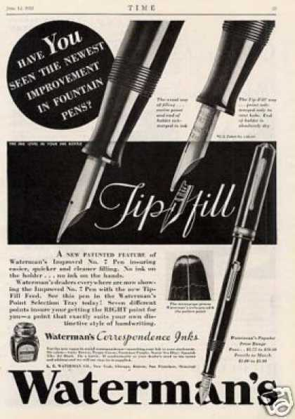 Waterman's Fountain Pen (1933)