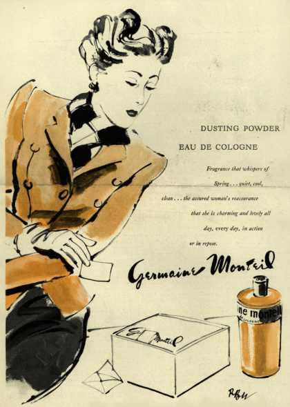 Germaine Monteil's perfume – Dusting Powder Eau De Cologne (1943)