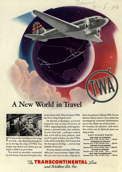 Transcontinental &amp; Western Air &#8211; A New World in Travel (1940)