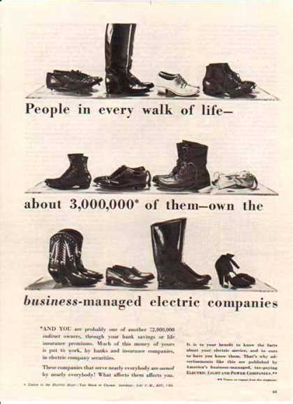 Electric Light and Power Companies – People in every walk of life (1948)