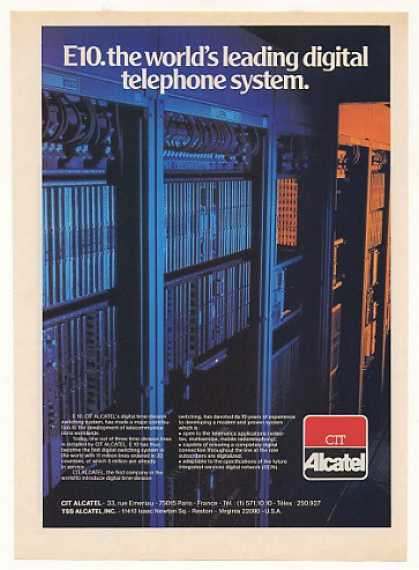 CIT Alcatel E10 Digital Telephone Switching Sys (1983)