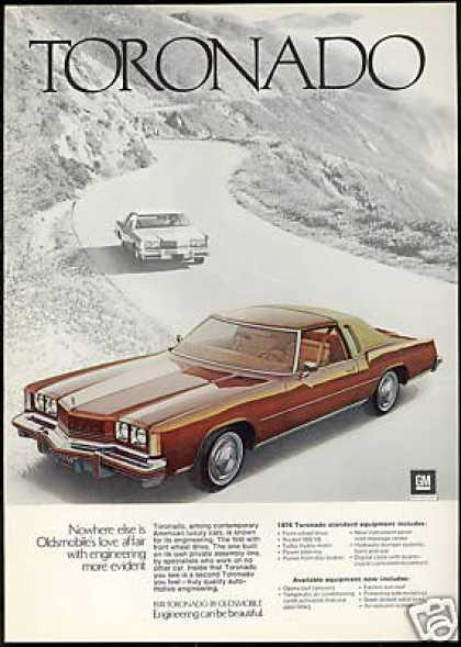 Oldsmobile Toronado Photo Print Vintage Car (1974)