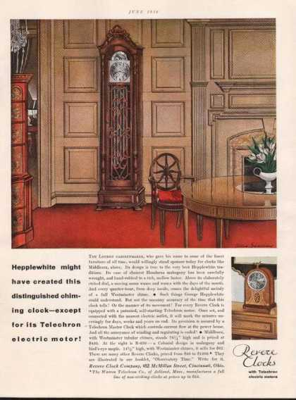 Revere Clocks With Telechron Electric Moto (1930)