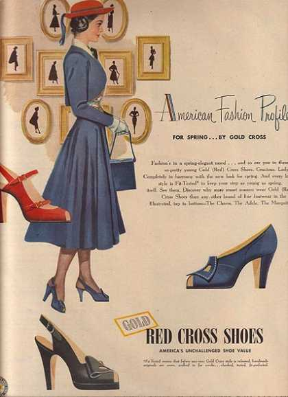 Gold Red Cros's American Fashion Profiles for Spring...by Gold Cross (1948)
