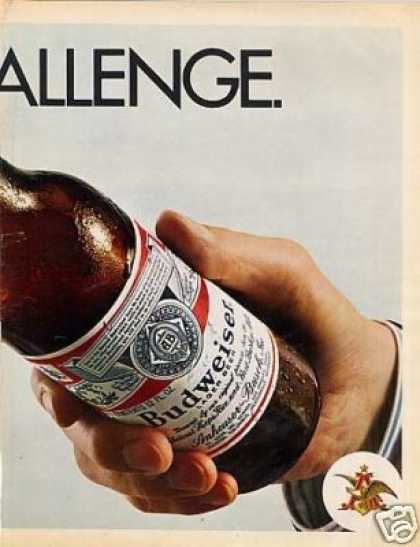 Budweiser Beer Ad 2 Page (1971)
