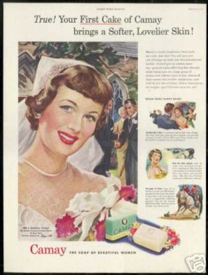 Wedding Bride Warricks Art Camay Soap (1949)