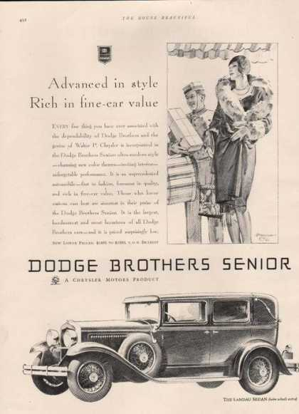Dodge Landau Sedan Chrysler Car (1929)