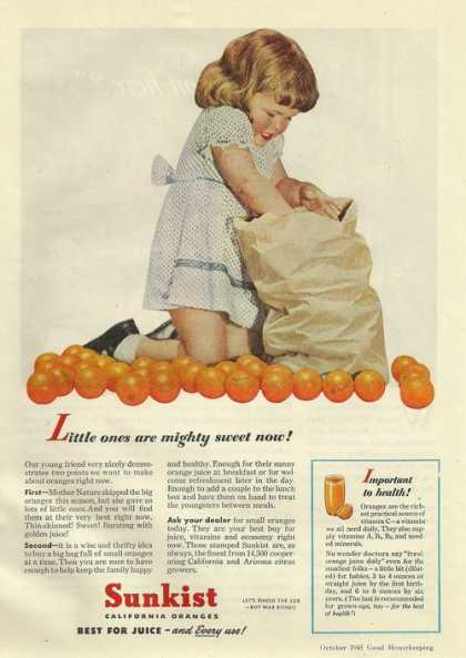 Sunkist Californa Orange Juice (1945)