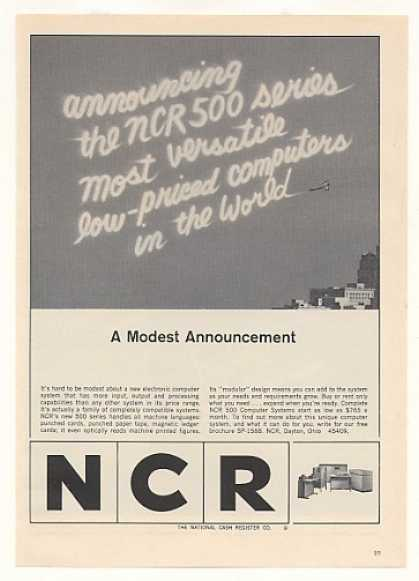 NCR 500 Series Computer System Skywriter (1965)