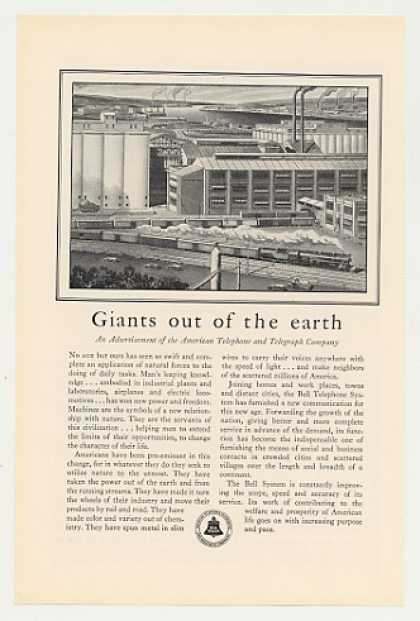 AT&T Bell Telephone Industrial Plants Giants (1930)