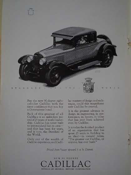 New 90 Degree Cadillac Division of General Motors (1926)