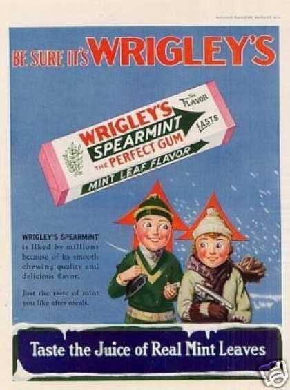 Wrigley's Spearmint Chewing Gum Color (1930)