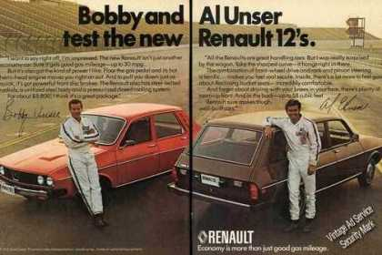 Renault 12 Bobby & Al Unser at Racetrack (1975)