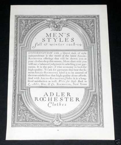 Old , Adler Rochester Clothes (1918)