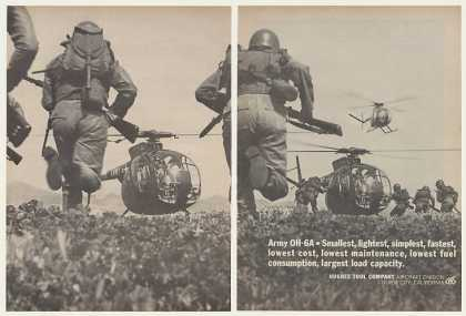 US Army Hughes OH-6A Helicopter Photo (1964)