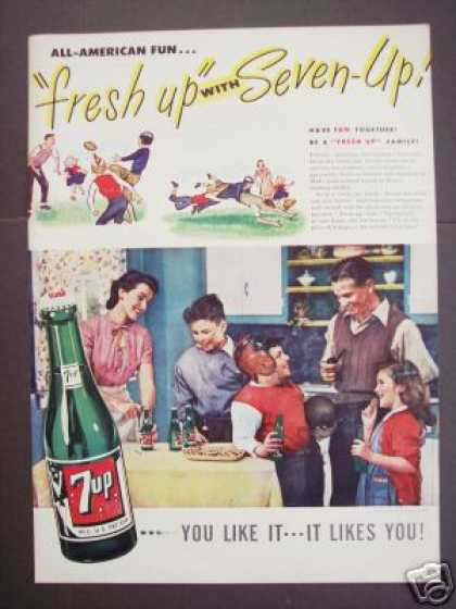 All American Fun Seven-up 7up (1946)