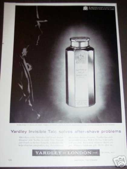 Original Yardley Invisible Talc After Shave Art (1956)