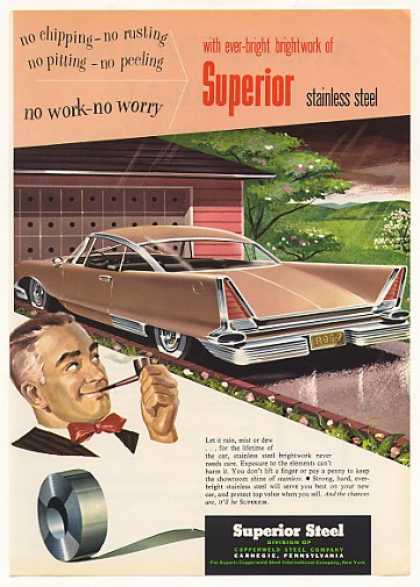 Superior Stainless Steel Slant Trunk Car (1958)