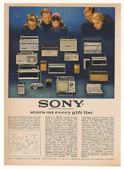 Sony Portable TV Radios 18 Models (1963)