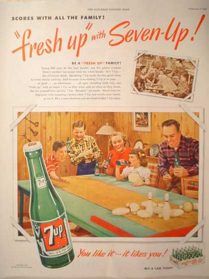 7 Up Fresh Up Scores with all the family (1950)