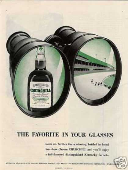 Fleischmann's Churchill Bourbon Whiskey (1951)