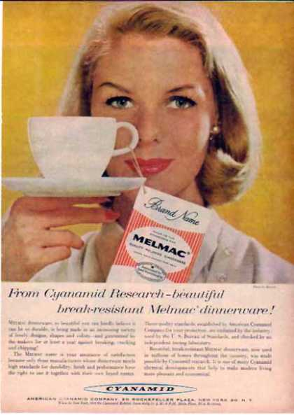 American Cyanamid Co. – Melmac Dinnerware (1958)