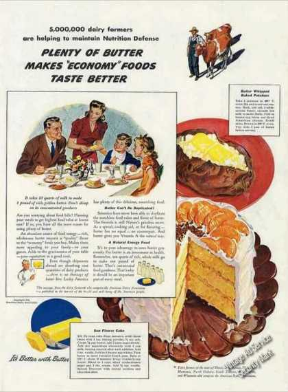 """Economy Foods Taste Better With Butter"" Wwii (1942)"