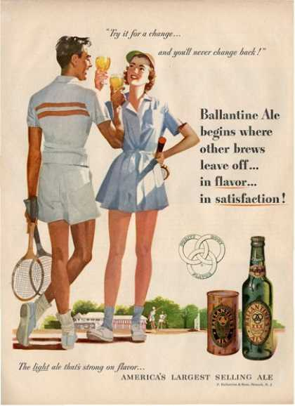 Balantine Ale Tennis Player T (1951)