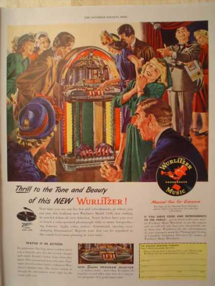 Wurlizter Jukebox Music Tone and Beauty (1947)