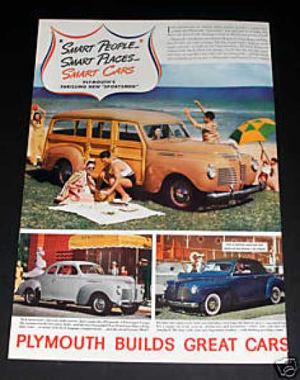 "Plymouth Automobile ""Sportsman (1940)"