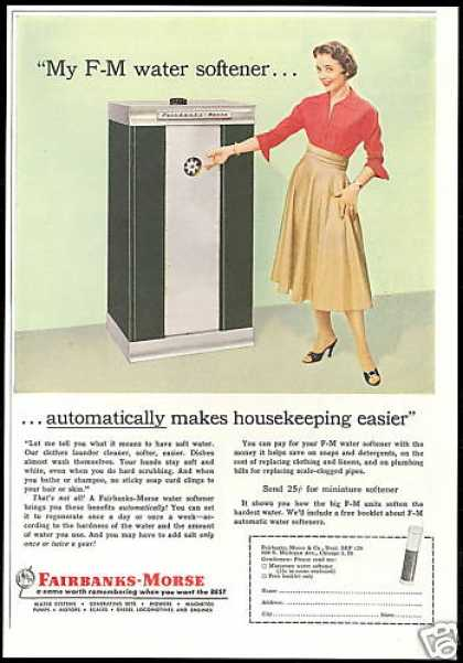 F M Fairbanks Morse Water Softener (1957)