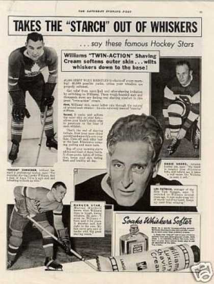 William's Shaving Cream Ad Famous Hockey Players (1937)