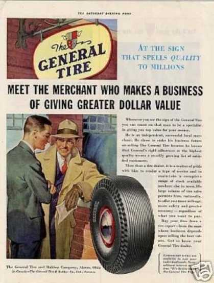 General Tire Ad 'meet the Merchant Who Makes... (1941)