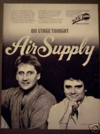 Air Supply Photo Radio Concert Promo (1982)