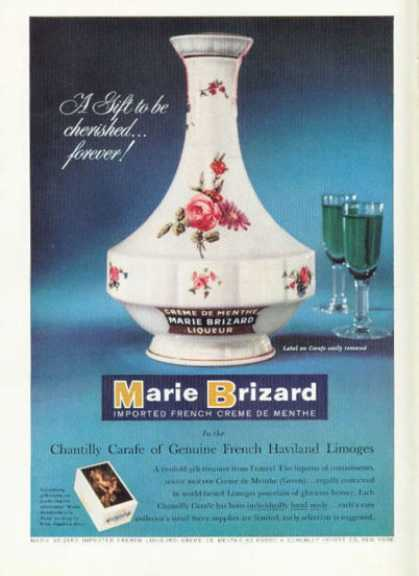 French Marie Brizard Menthe Haviland Carafe (1958)