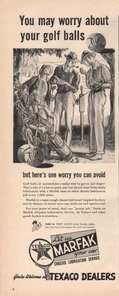 Texaco Dealer Worry About Golf Balls (1942)