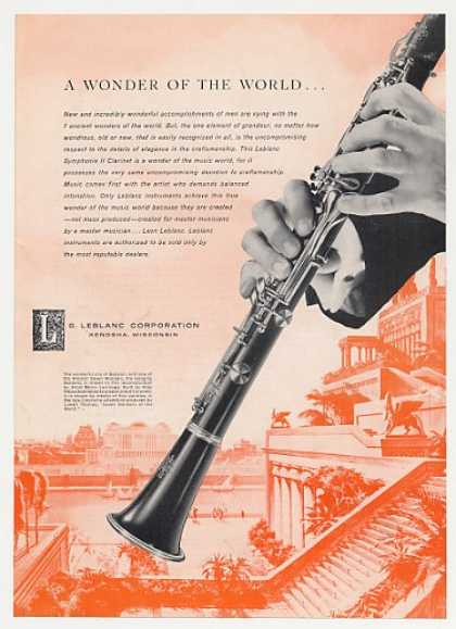 Leblanc Symphonie II Clarinet Wonder of World (1958)