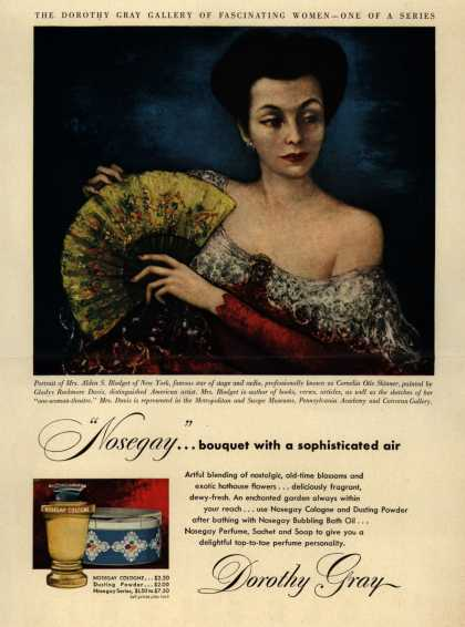 """Dorothy Gray – """"Nosegay""""...bouquet with a sophisticated air (1948)"""