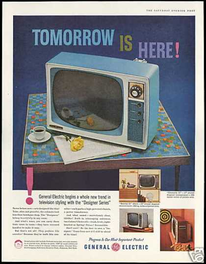 GE General Electric Designer TV Television (1958)