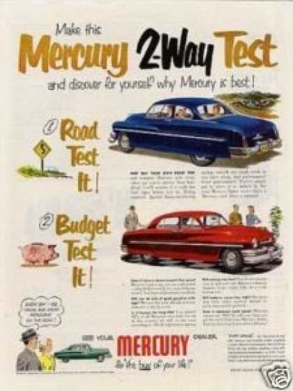 "Mercury Car Ad ""Make This Mercury 2-way... (1951)"
